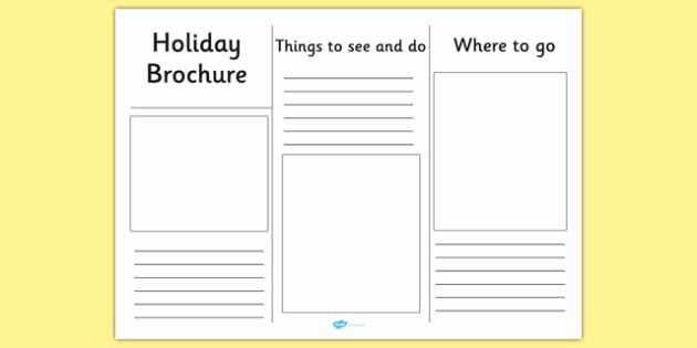 Travel Brochure Template for Kids Luxury Editable Holiday Brochure Template Holiday Brochure