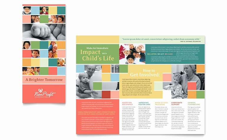 Travel Brochure Template for Kids New Non Profit association for Children Brochure Template