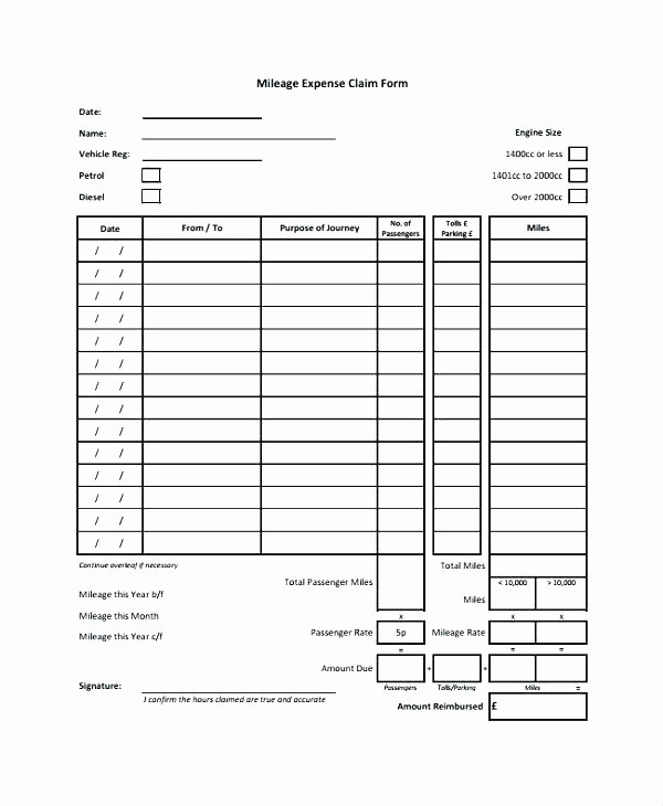 Travel Expense Reimbursement form Template Elegant Travel Expense form Excel Travel Expenses form Template