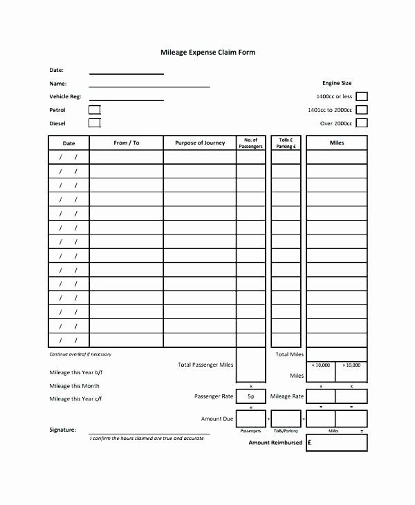 Travel Expense Reimbursement form Template Elegant Travel Expense form Excel Travel Expenses form Template