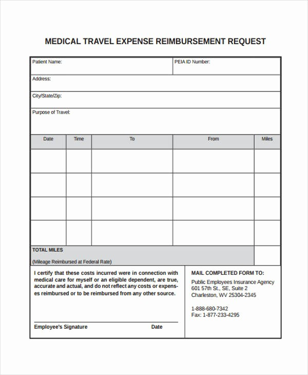 Travel Expense Reimbursement form Template Elegant Travel Request form Template