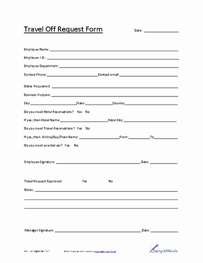 Travel Request form Template Excel Beautiful Employee Memo About Supply Room