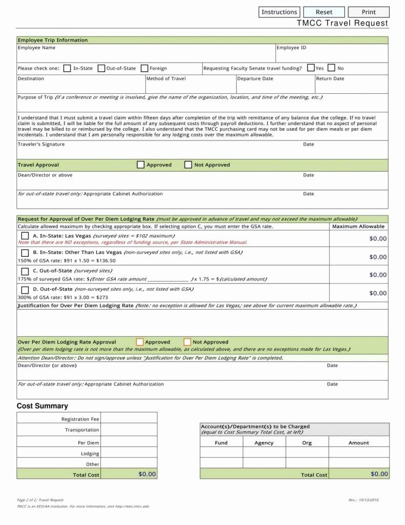 Travel Request form Template Excel Elegant Travel Request form Template Word