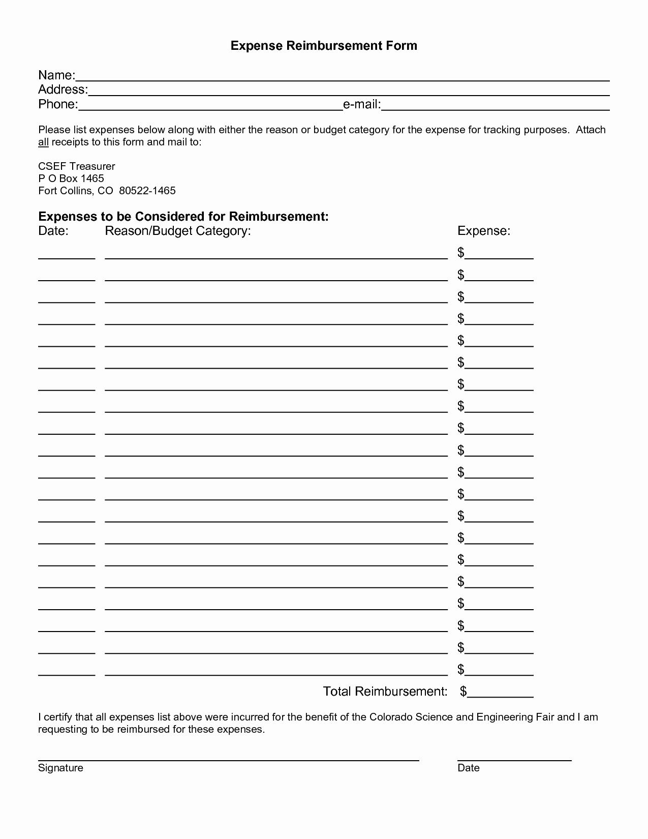 Travel Request form Template Excel Inspirational Sample Expense Reimbursement form Portablegasgrillweber