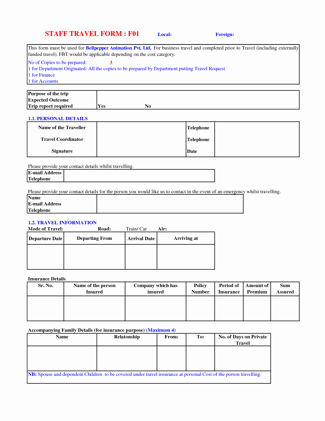 Travel Request form Template Excel Lovely 5 Best Of Business Travel Request form Template