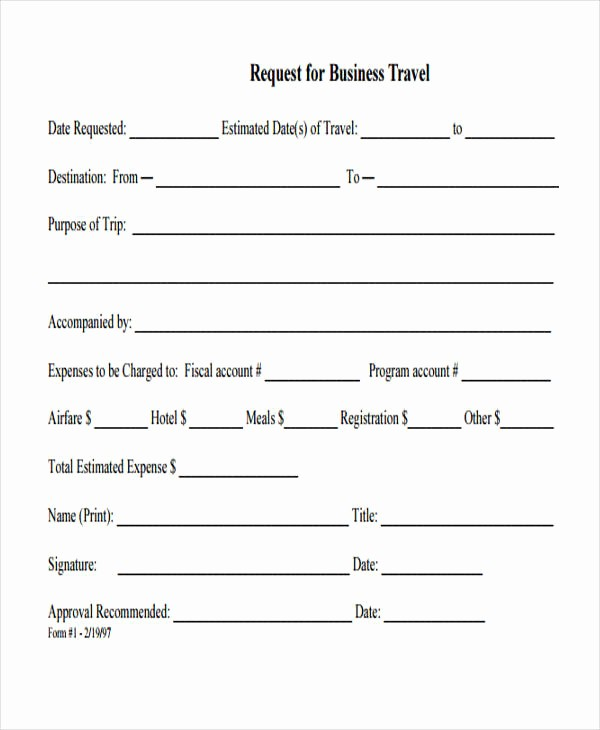 Travel Request form Template Excel Unique Travel Request form Template