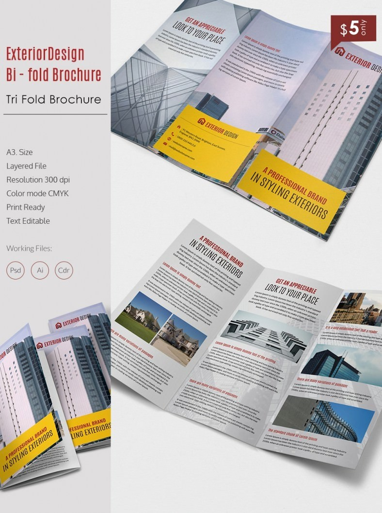 Tri-fold Brochure Examples Beautiful 20 Best Free and Premium Corporate Brochure Templates