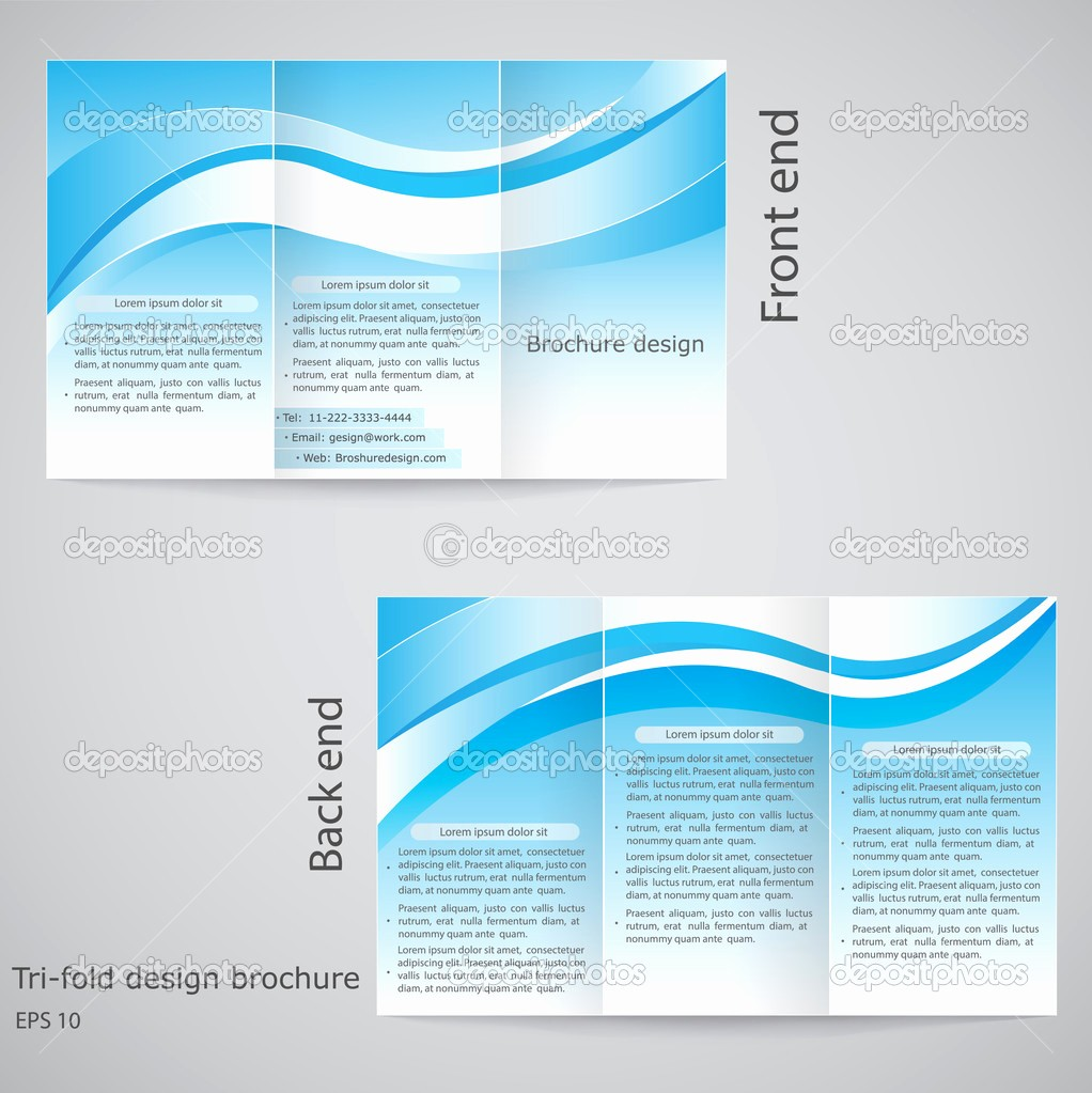 Tri-fold Brochure Examples Beautiful 9 Best Of Tri Fold Brochure Design Template Free