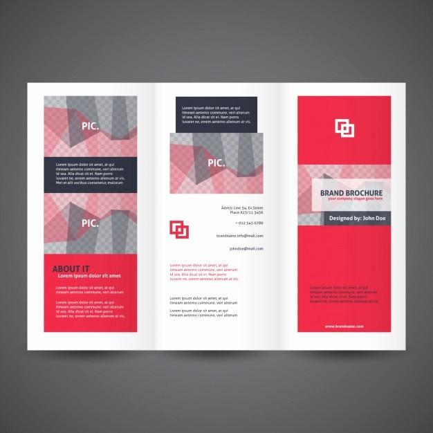 Tri-fold Brochure Examples Beautiful Tri Fold Brochures Templates Red Trifold Brochure Template
