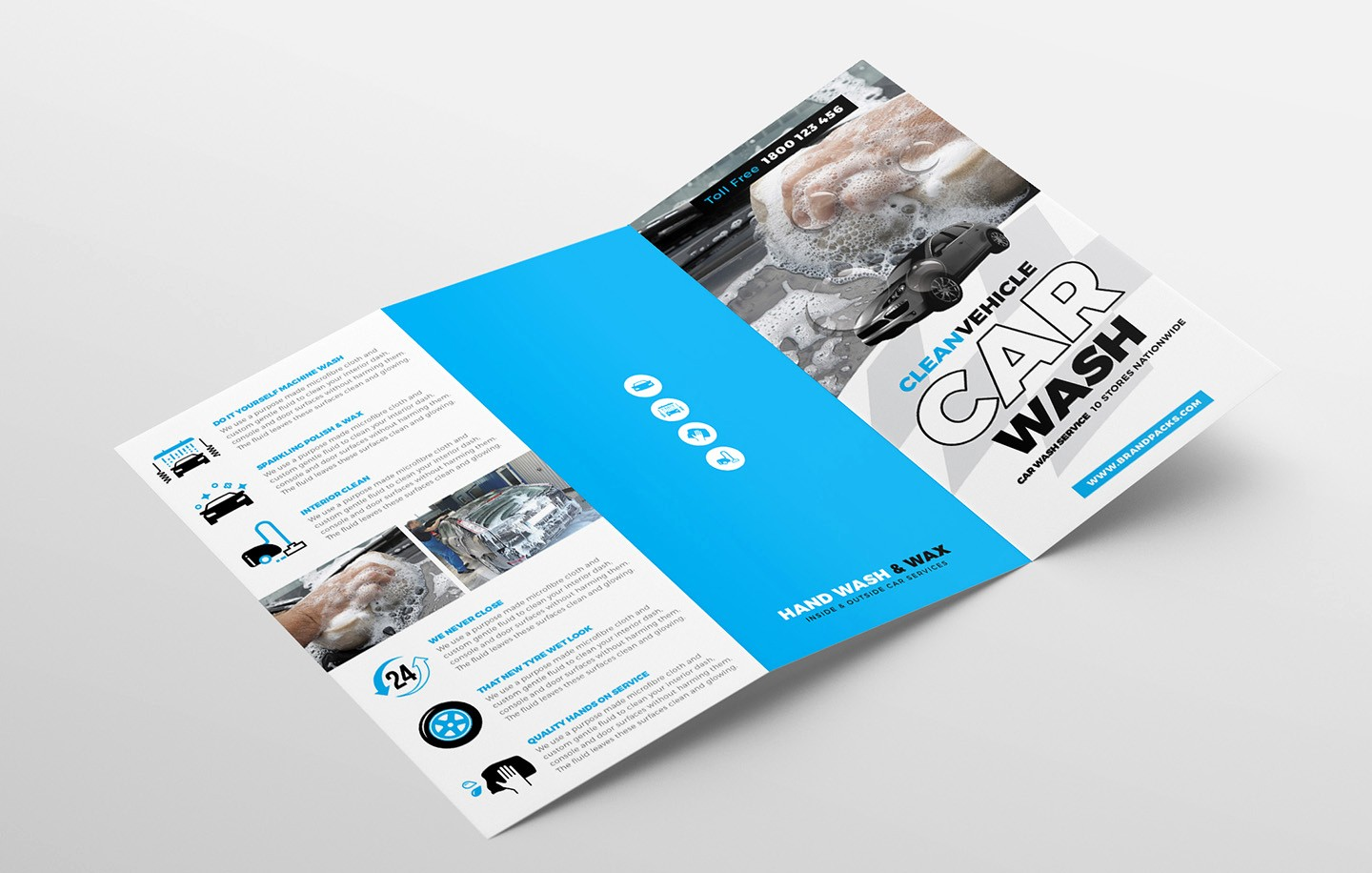 Tri-fold Brochure Examples Best Of Car Wash Tri Fold Brochure Template for Shop