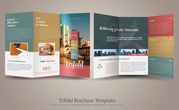 Tri-fold Brochure Examples Fresh 20 Simple yet Beautiful Brochure Design Inspiration