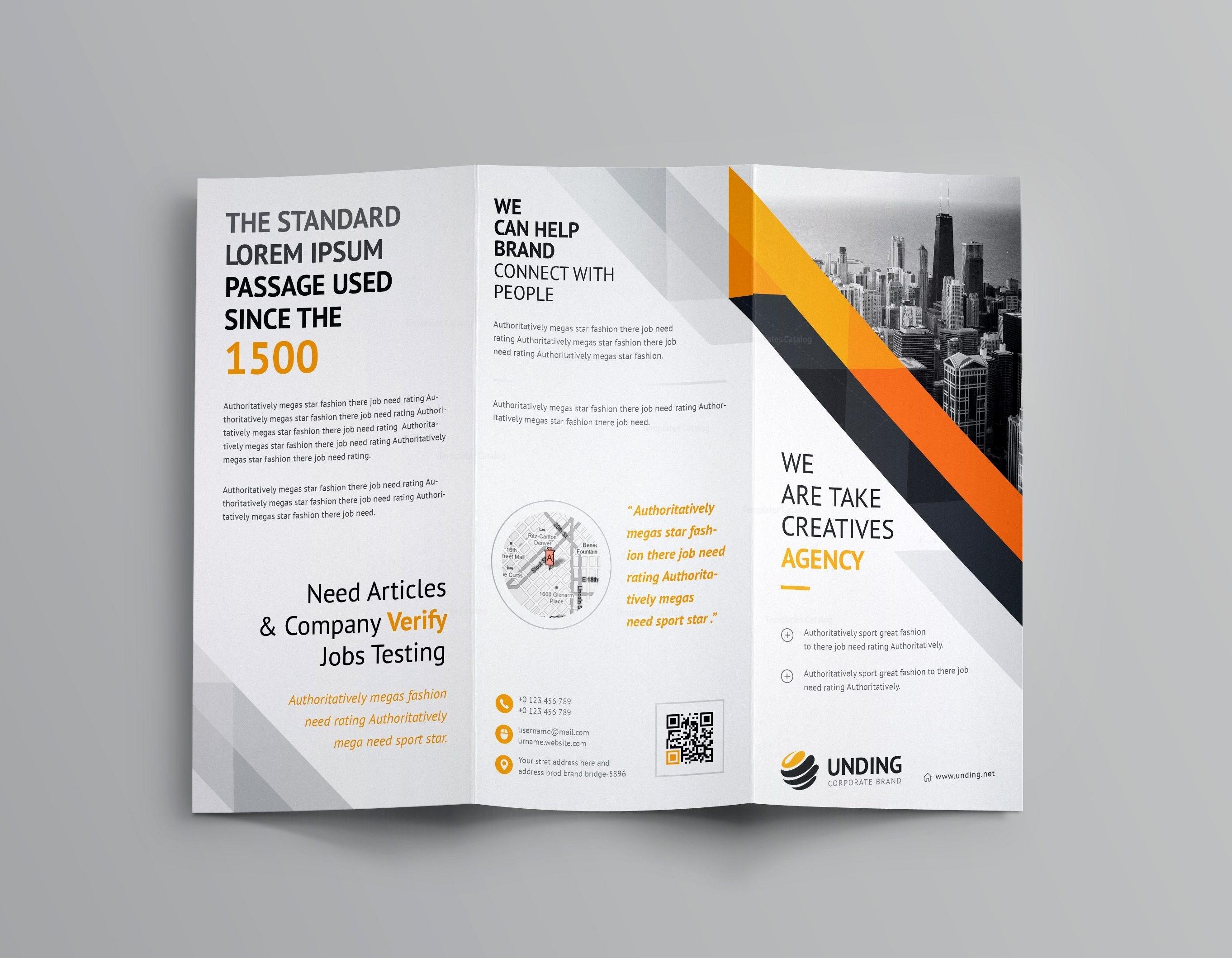 aristaeus corporate tri fold brochure template