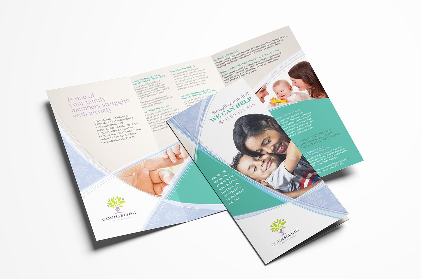 Tri-fold Brochure Examples Inspirational Counselling Service Tri Fold Brochure Template In Psd Ai