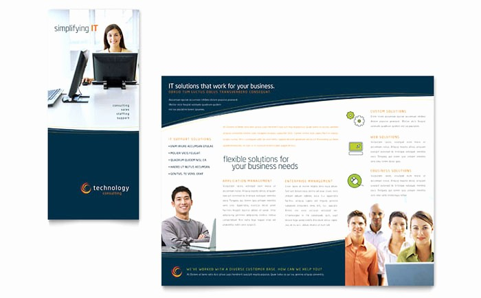 Tri-fold Brochure Examples Inspirational Free Tri Fold Brochure Templates