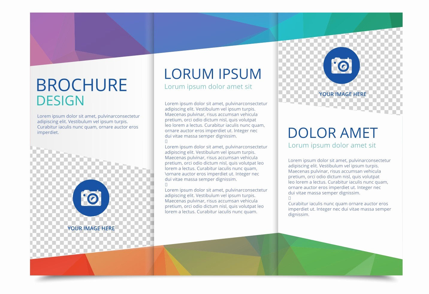 Tri-fold Brochure Examples Inspirational Tri Fold Brochure Vector Template Download Free Vector