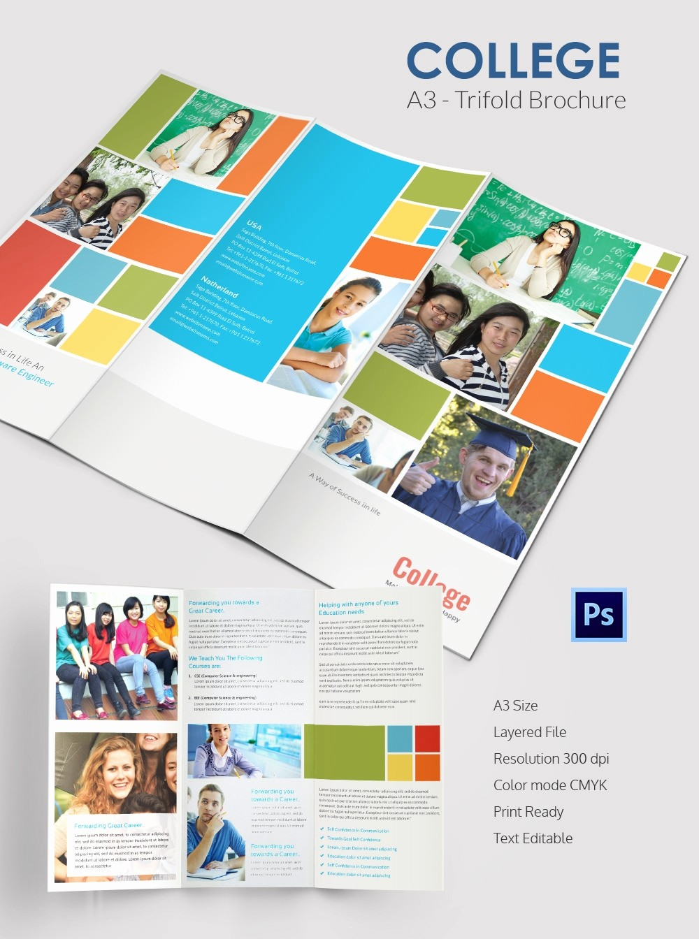 Tri-fold Brochure Examples Lovely College Brochure Template – 34 Free Jpg Psd Indesign
