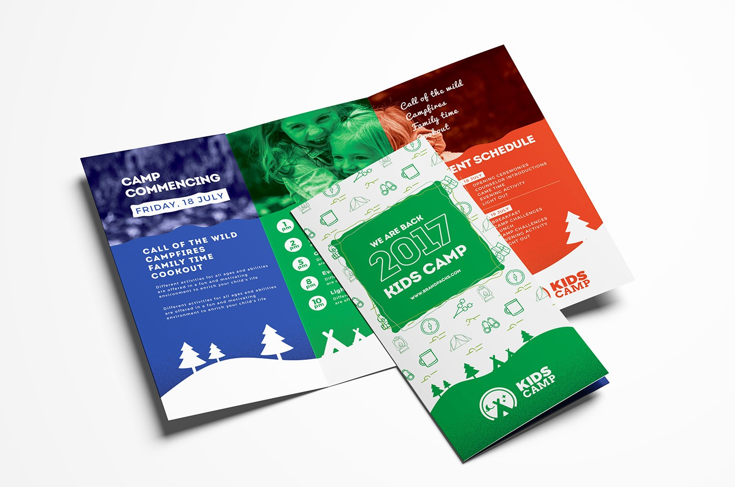 Tri-fold Brochure Examples Lovely Kids Camp Trifold Brochure Template In Psd Ai & Vector
