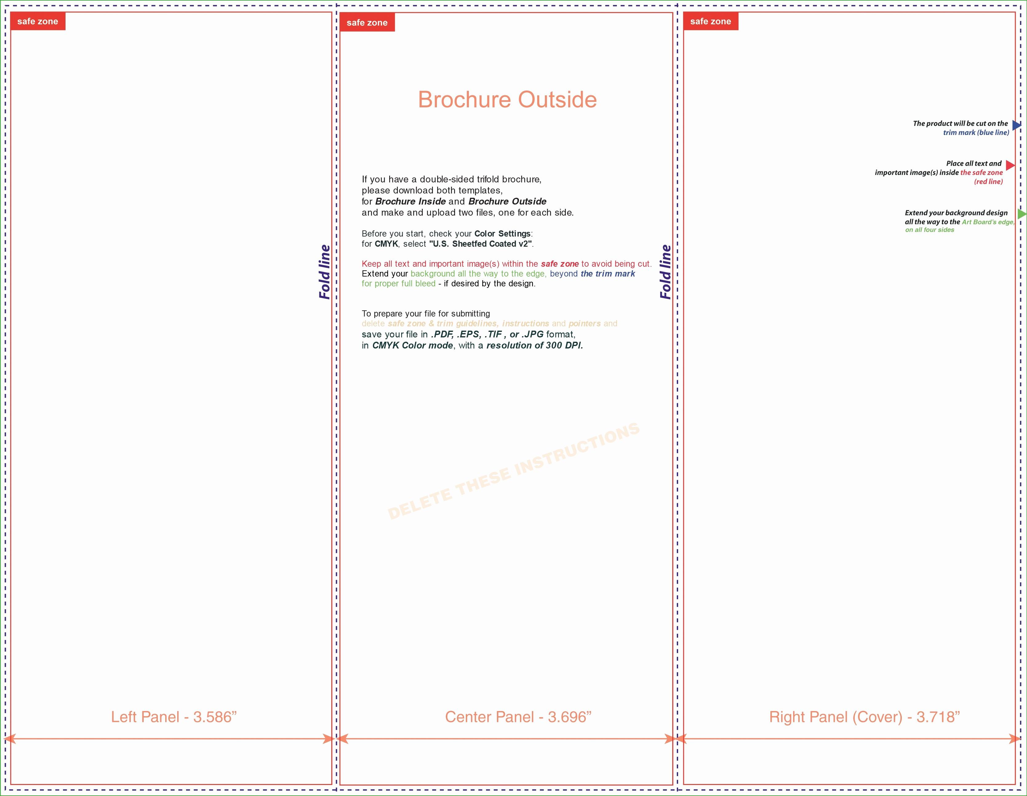 Tri-fold Brochure Examples Luxury Tri Fold Brochure Template Microsoft Word