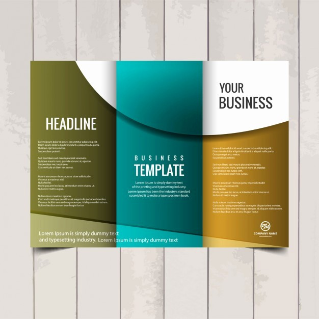 Tri-fold Brochure Examples Luxury Tri Fold Brochure Template Vector