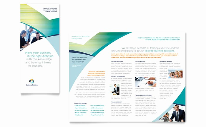 Tri Fold Brochure Template Powerpoint Beautiful Business Training Tri Fold Brochure Template Design