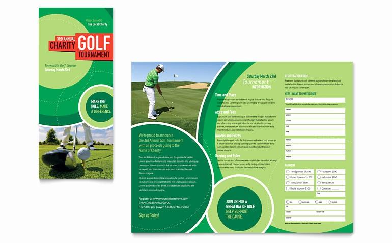 Tri Fold Brochure Template Powerpoint Luxury Golf tournament Tri Fold Brochure Template Word & Publisher