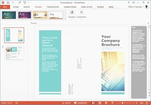 Tri Fold Brochure Template Powerpoint New Powerpoint Pamphlet Template – Skywrite
