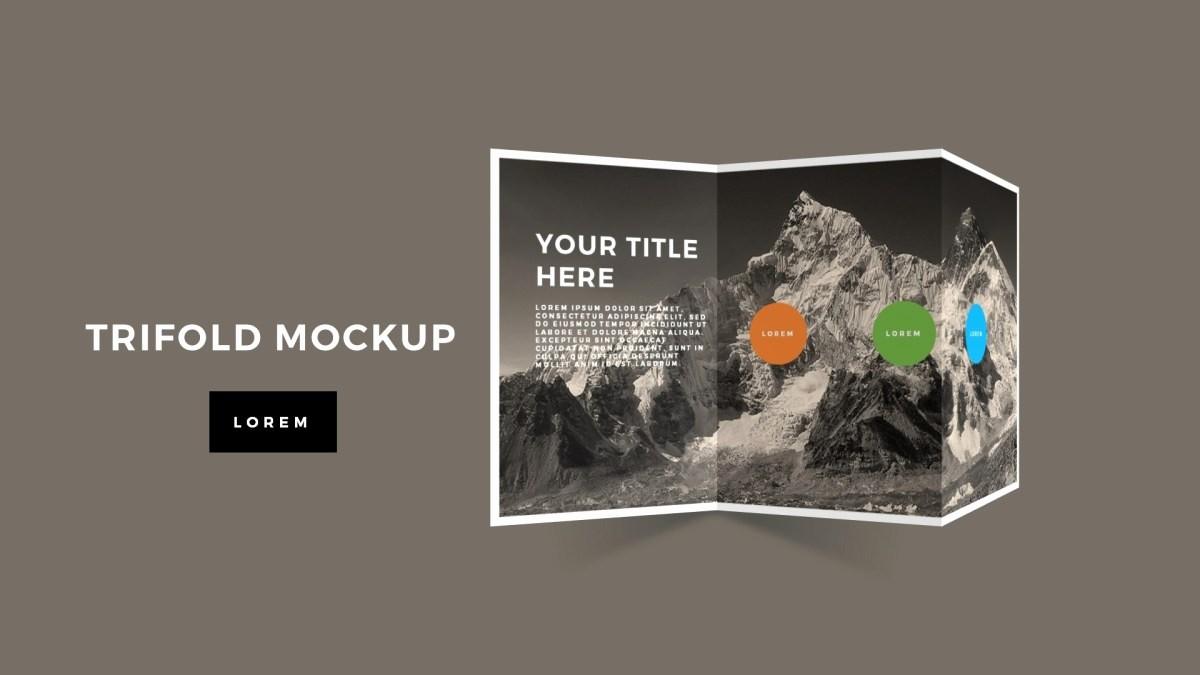 Tri Fold Brochure Template Powerpoint New Tri Fold Brochure Mockup Powerpoint Template Premium