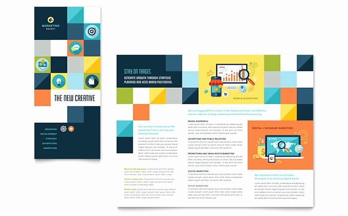 Tri Fold Brochure Template Powerpoint Unique Advertising Pany Tri Fold Brochure Template Word
