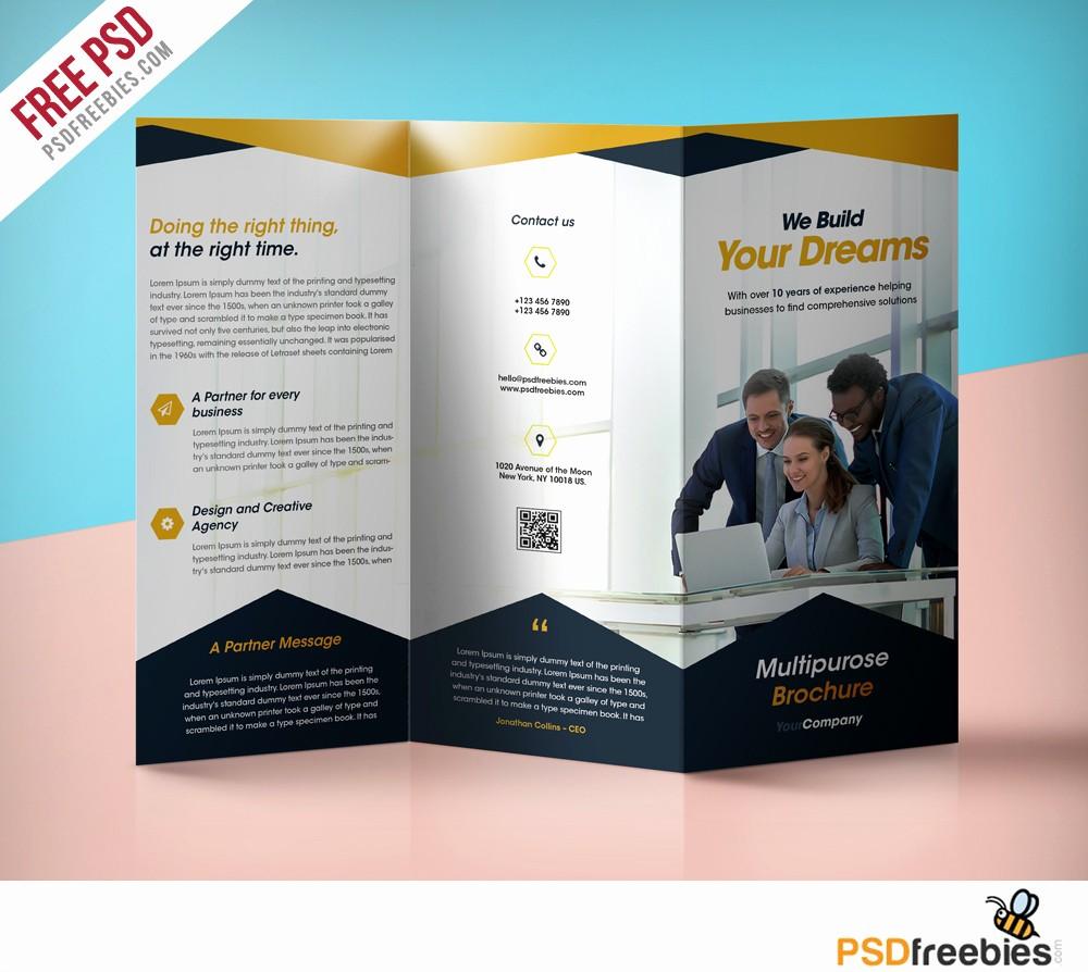 Tri Fold Brochure Template Powerpoint Unique Business Tri Fold Brochure Templates Free Templates