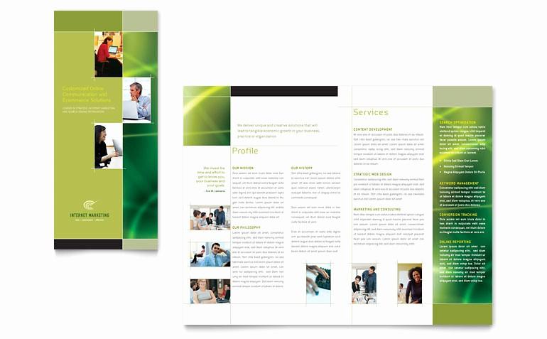 Tri Fold Brochure Template Powerpoint Unique Internet Marketing Tri Fold Brochure Template Word