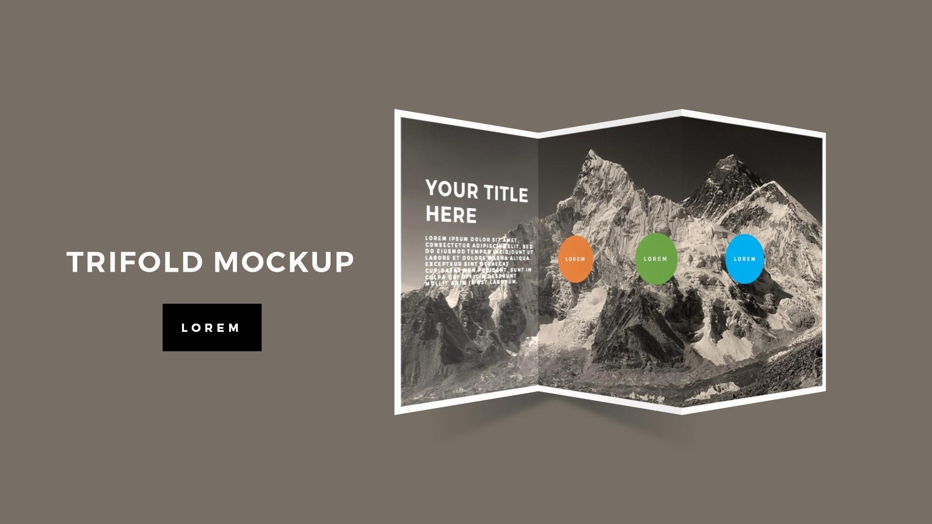 Tri Fold Brochure Template Powerpoint Unique Tri Fold Brochure Mockup Powerpoint Template Premium