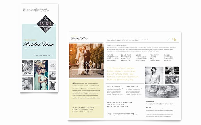 Tri Fold Brochure Template Publisher Awesome Bridal Show Tri Fold Brochure Template Word & Publisher