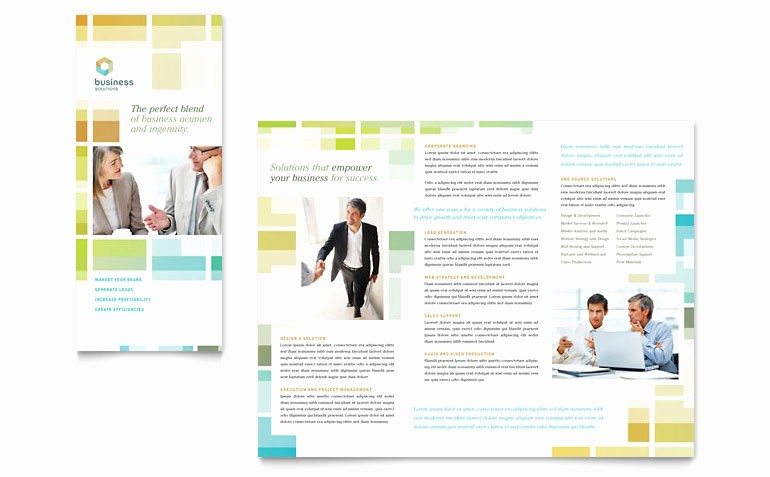 Tri Fold Brochure Template Publisher Awesome Business solutions Consultant Tri Fold Brochure Template