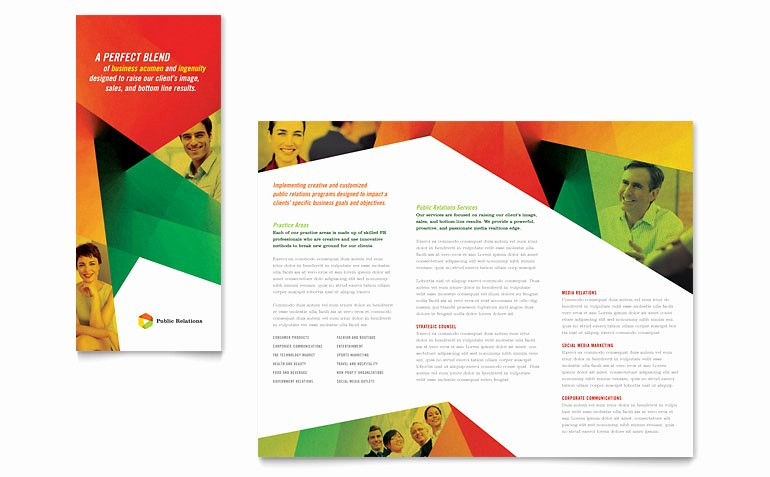 Tri Fold Brochure Template Publisher Beautiful Public Relations Pany Tri Fold Brochure Template Word