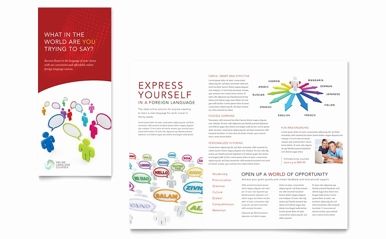 Tri Fold Brochure Template Publisher Best Of Language Learning Tri Fold Brochure Template Word
