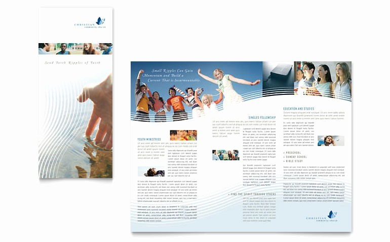 Tri Fold Brochure Template Publisher Elegant Christian Ministry Tri Fold Brochure Template Word