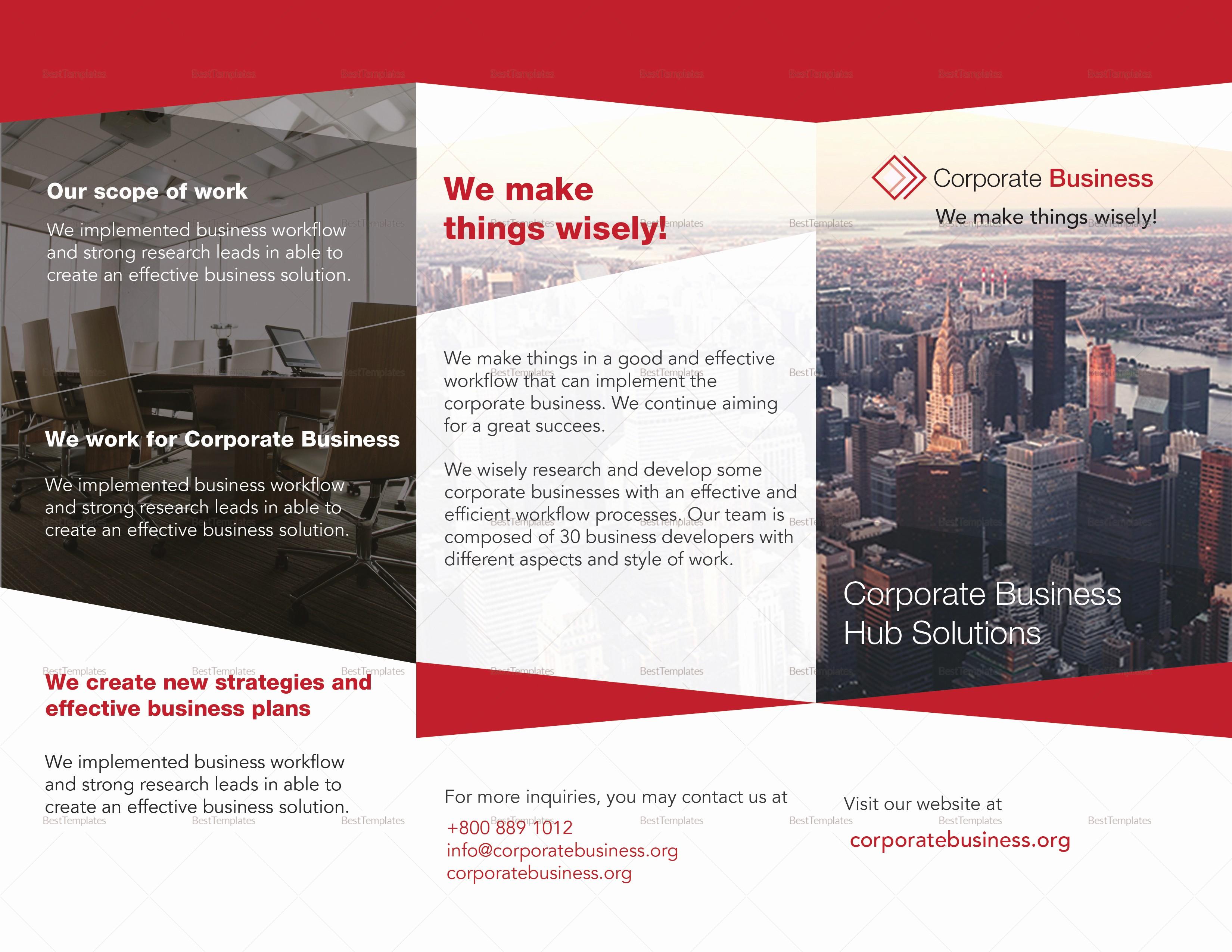 Tri Fold Brochure Template Publisher Elegant Tri Fold Corporate Business Brochure Design Template In