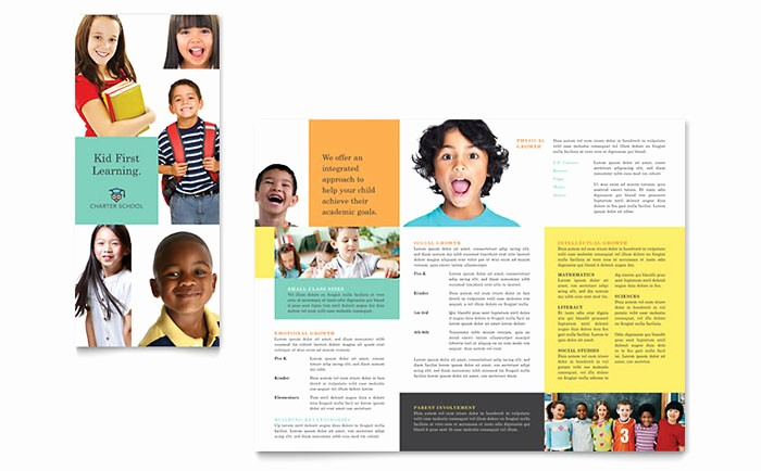 Tri Fold Brochure Template Publisher Fresh Charter School Tri Fold Brochure Template Design