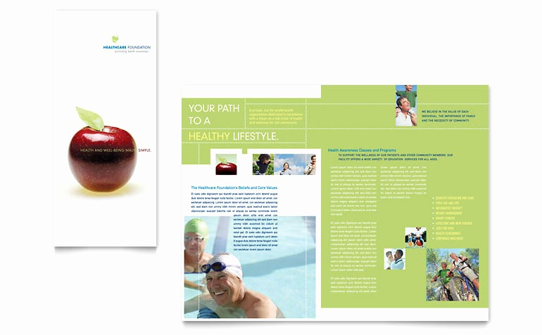 Tri Fold Brochure Template Publisher Fresh Healthcare Management Tri Fold Brochure Template Word