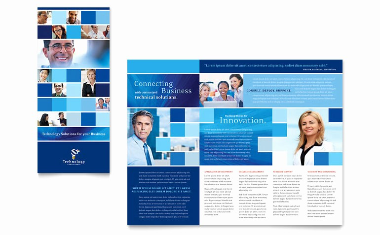 Tri Fold Brochure Template Publisher Fresh Technology Consulting & It Tri Fold Brochure Template