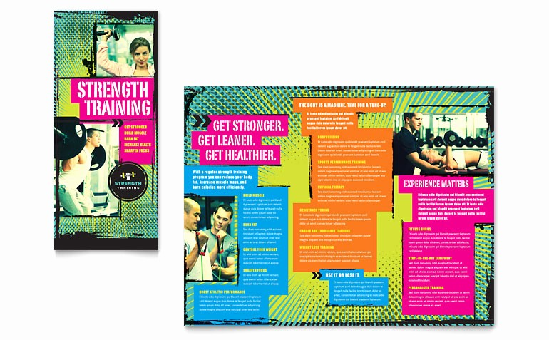 Tri Fold Brochure Template Publisher Lovely Strength Training Tri Fold Brochure Template Word