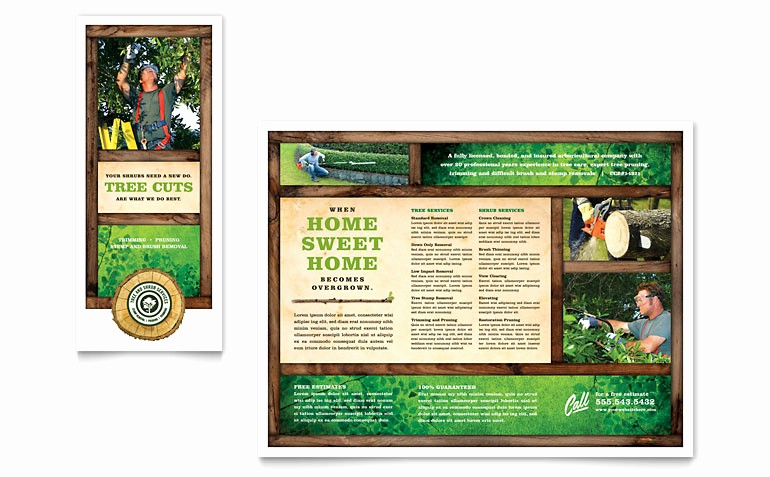 Tri Fold Brochure Template Publisher Lovely Tree Service Tri Fold Brochure Template Word & Publisher