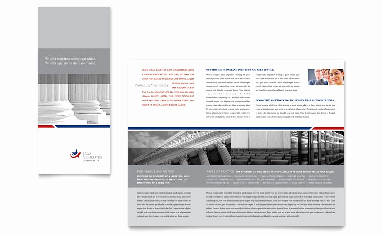 Tri Fold Brochure Template Publisher Luxury Legal & Government Services Tri Fold Brochure Template