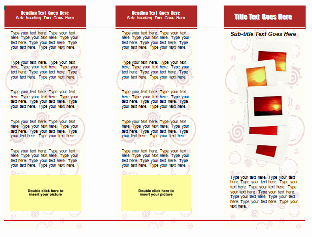 Tri Fold Brochure Word Template Awesome 13 Microsoft Word Trifold Template Blank Tri Fold