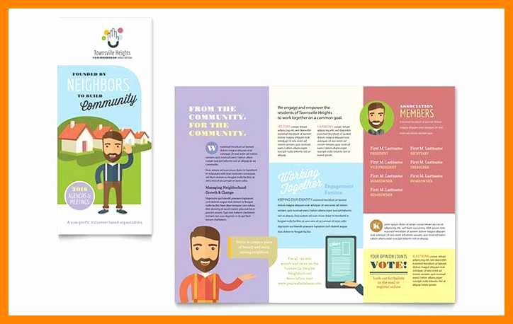 Tri Fold Brochure Word Template Awesome 3 4 Templates for Tri Fold Brochures In Word