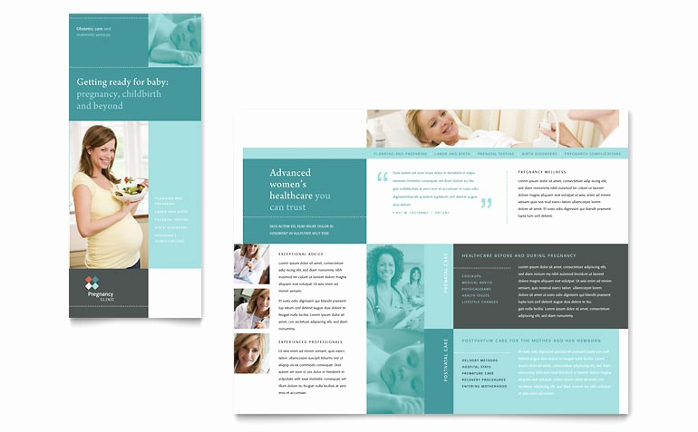 Tri Fold Brochure Word Template Beautiful Pregnancy Clinic Tri Fold Brochure Template Word & Publisher
