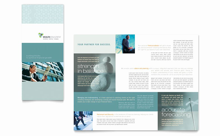 Tri Fold Brochure Word Template Beautiful Wealth Management Services Tri Fold Brochure Template