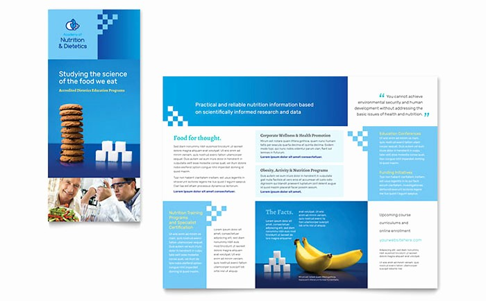 Tri Fold Brochure Word Template New Dietitian Tri Fold Brochure Template Word & Publisher