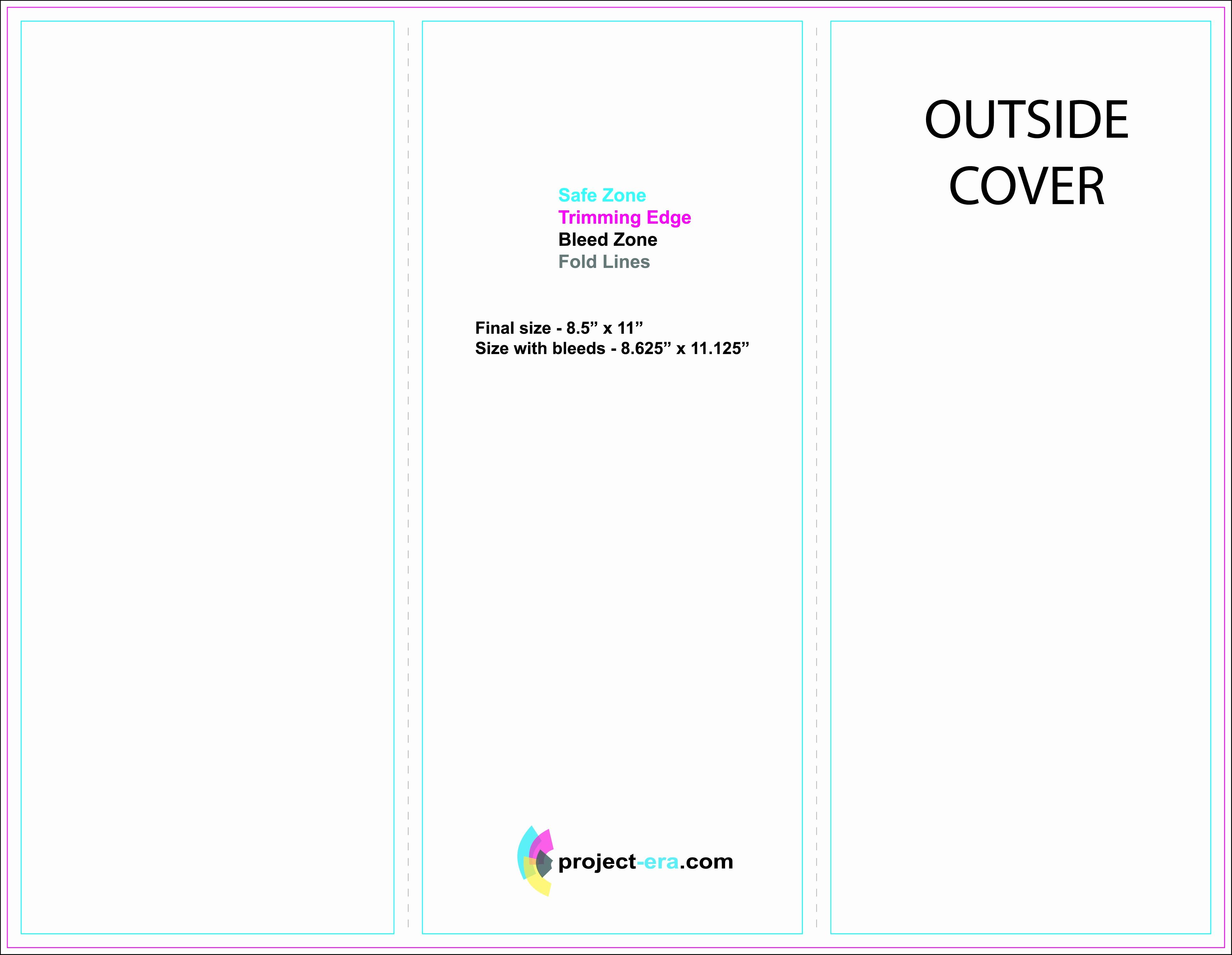 Tri Fold Brochure Word Template New Free Printable Tri Fold Brochure Templates