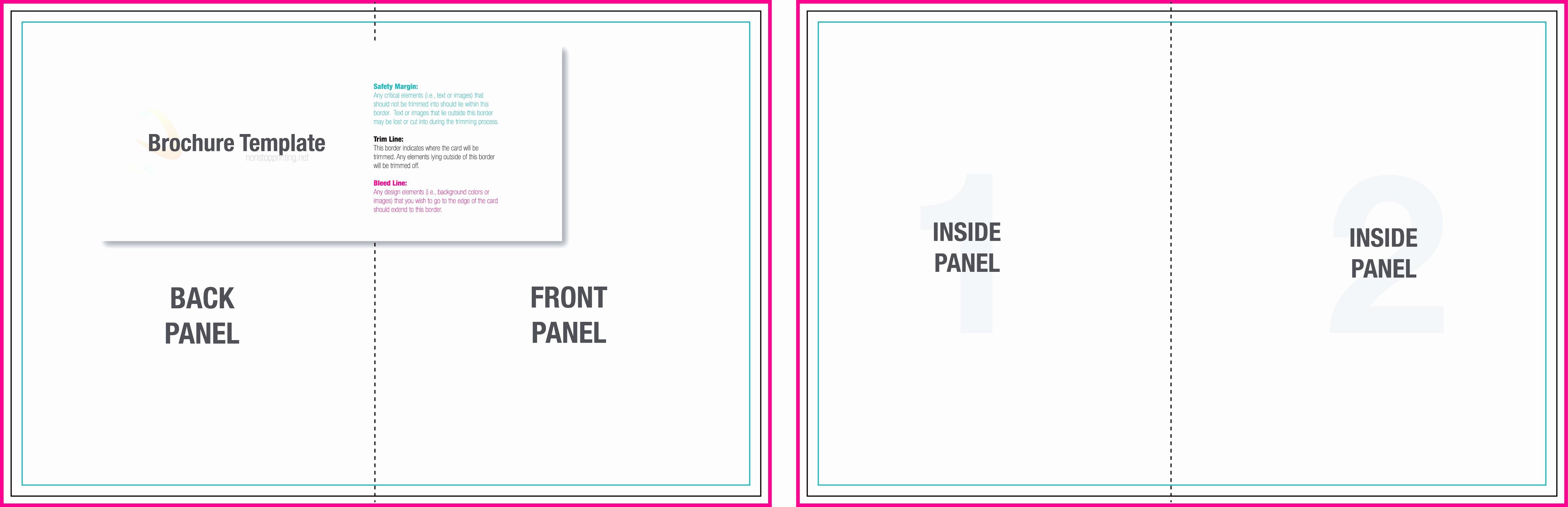 Tri Fold Brochure Word Template Unique Blank Tri Fold Brochure Template Example Mughals